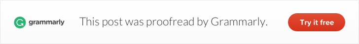 Proofreading by grammarly